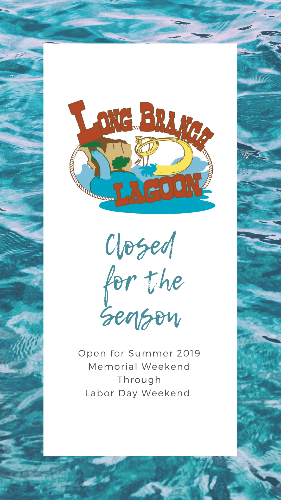 Closed for the Season - Reopen Memorial Weekend 2019